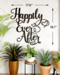 Happily ever after metal wallart