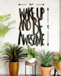 Wake up and be awesome wallart scaled