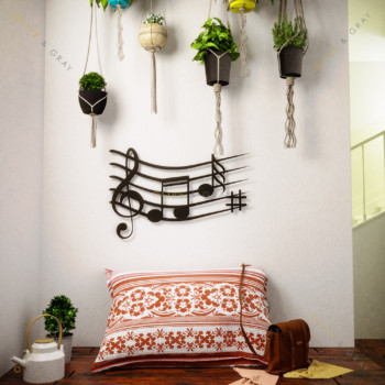 Be my Symphony Metal Wall Art