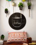 Click to enlarge Home Sweet Home But first, let me have my Coffee Metal Wall Art