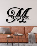 Custom Family Name Metal Sign