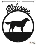 Dog Golden Retriever Welcome Sign