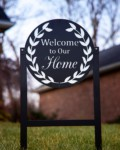 Click to enlarge Welcome to Our Home – Wreath Metal Art