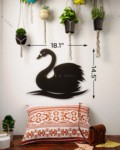 Orion the Swan Metal Wall Art