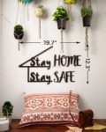 Stay Home Stay Safe Metal Wall