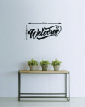 Welcome metal wall art scaled