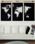 Magnetic World Map Metal Wall Art scaled